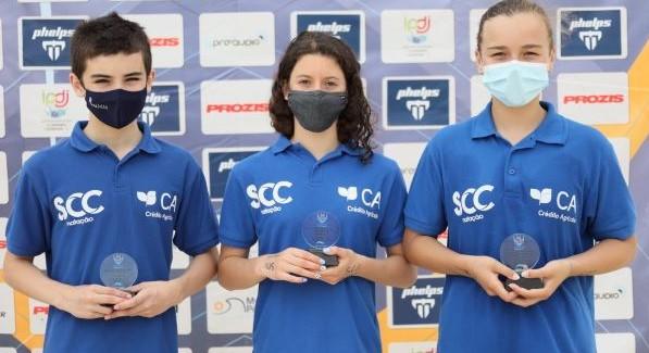 Três Nadadores da Columbófila de Cantanhede alcançam o top 10 nos campeonatos nacionais de infantis