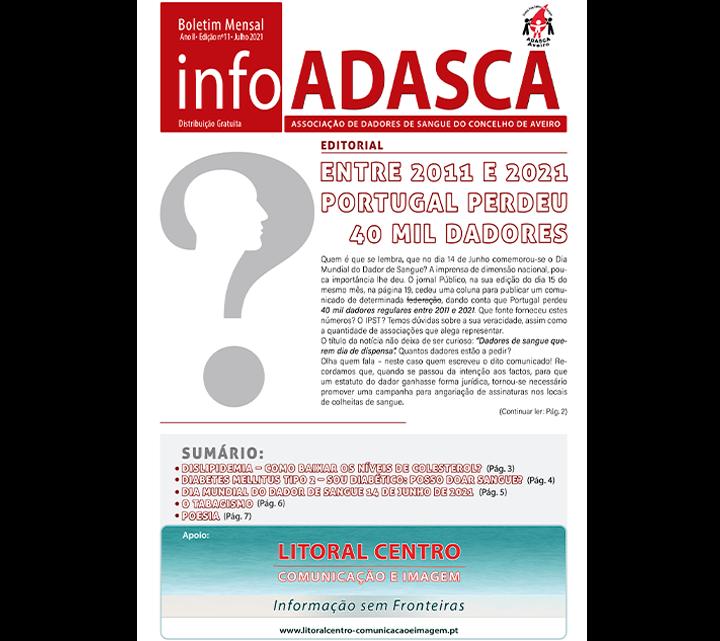 Boletim InfoADASCA, Edição nº. 11 de Julho de 2021
