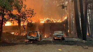 """Incêndio na Califórnia é tão grande que já tem """"clima"""" próprio"""