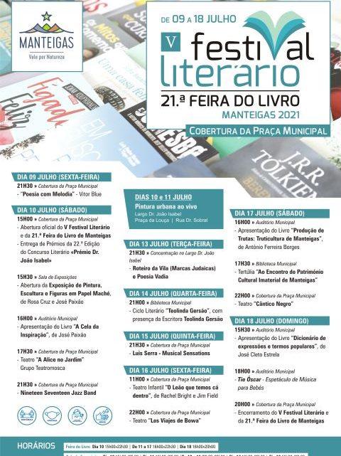 V Festival Literário / 21.ª Feira do Livro de Manteigas 2021