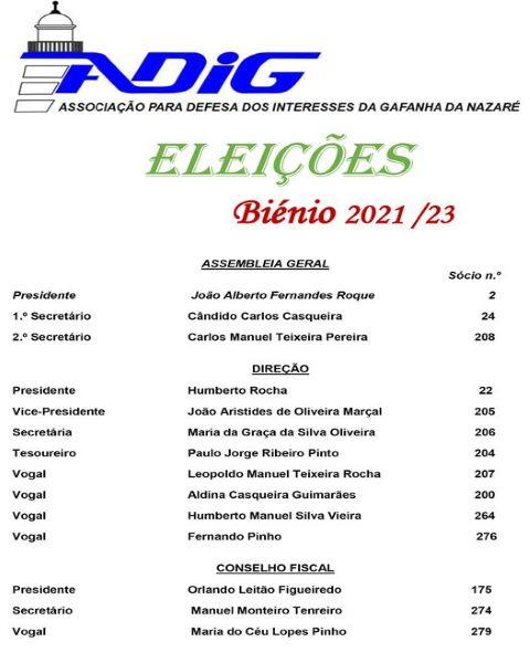 ADIG: Associação para a Defesa dos Interesses da Gafanha foi a eleições