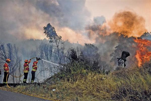 Dez distritos do continente em situação de alerta na terça-feira devido ao risco de incêndio