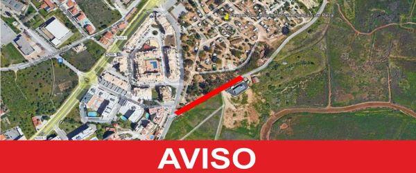 Armação de Pêra   ACESSO À ESTRADA INTERMUNICIPAL DE ALBUFEIRA SOFRE CORTE DE TRÂNSITO ATÉ DIA 30 DE SETEMBRO