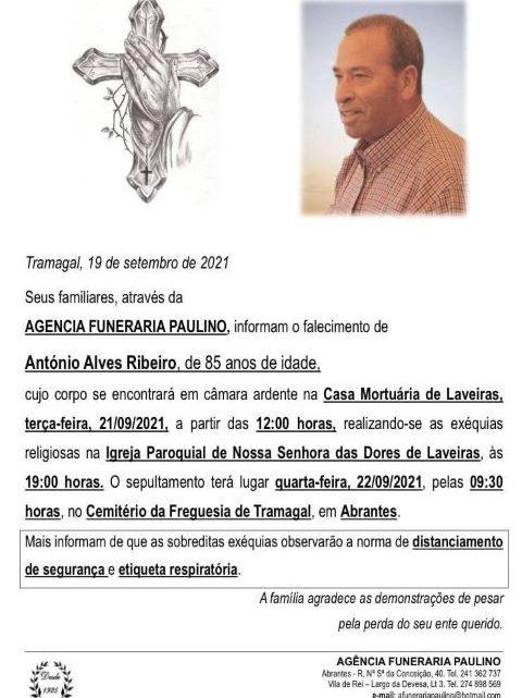 Faleceu Alves Ribeiro