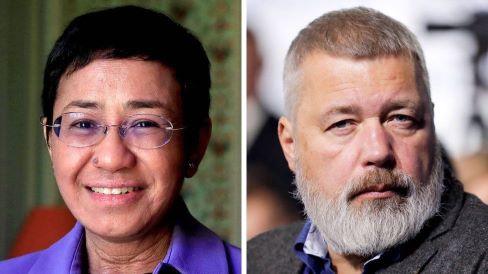 Nobel da Paz distingue dois jornalistas pela defesa da liberdade de expressão